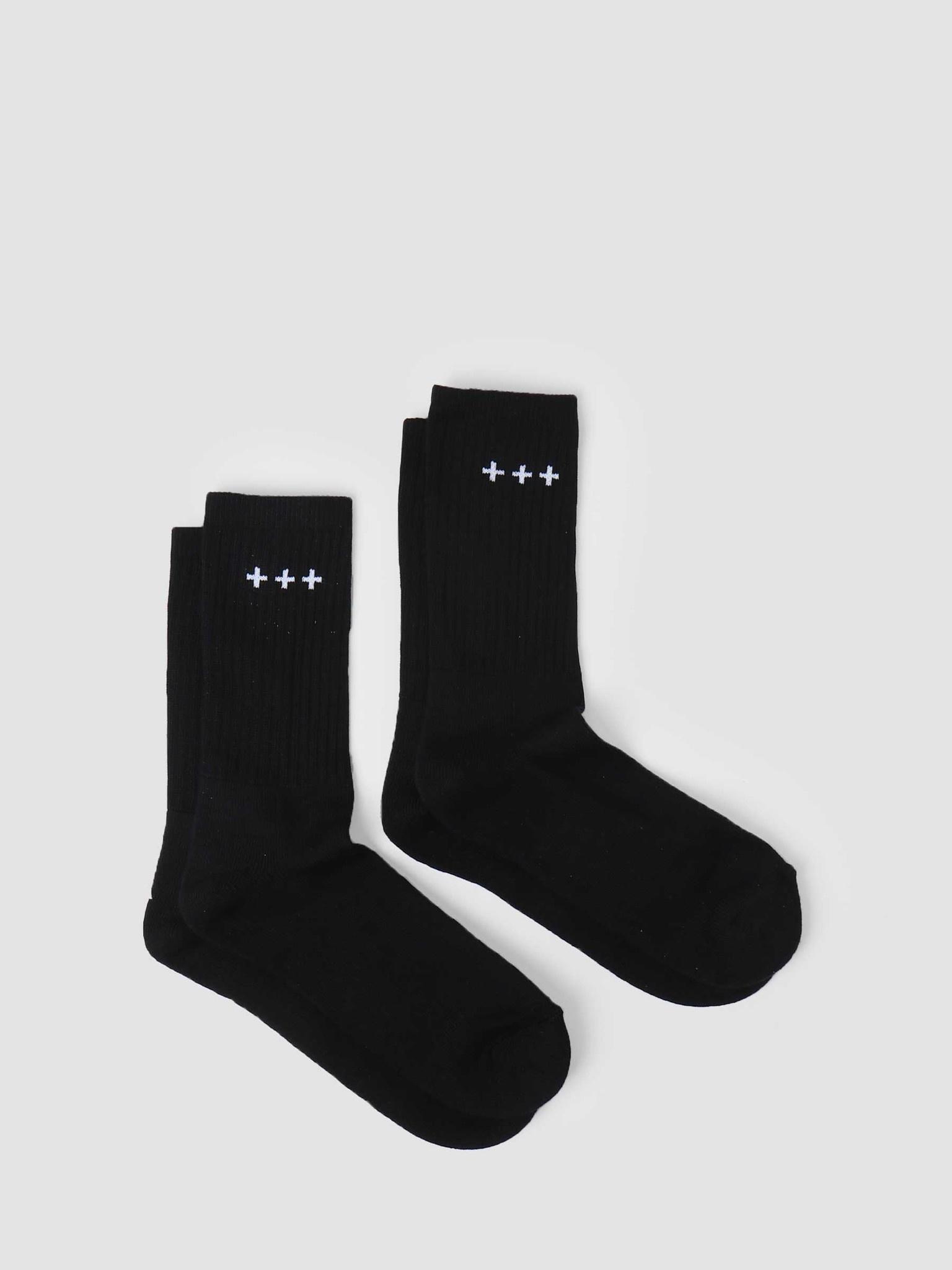 Quality Blanks Quality Blanks QB13 2 Pack Logo Socks Black