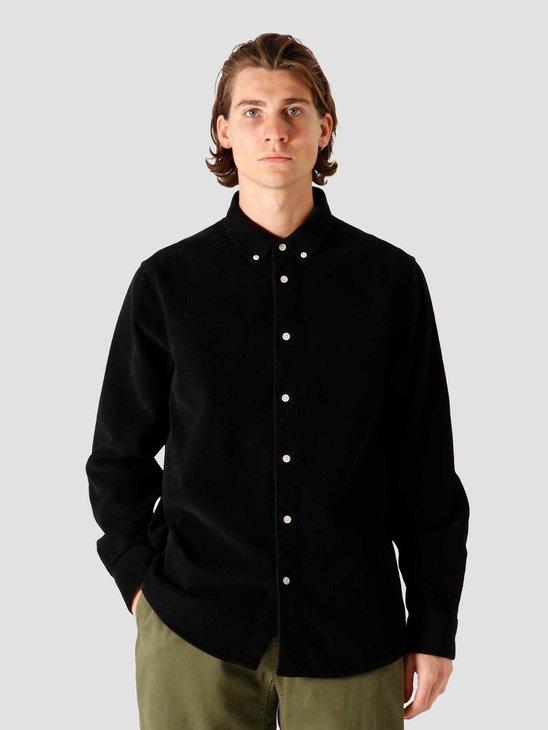 Quality Blanks QB41 Cord Shirt Black