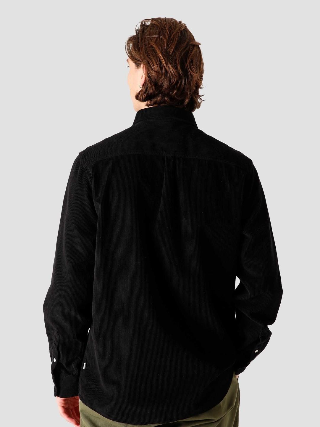 Quality Blanks Quality Blanks QB41 Cord Shirt Black