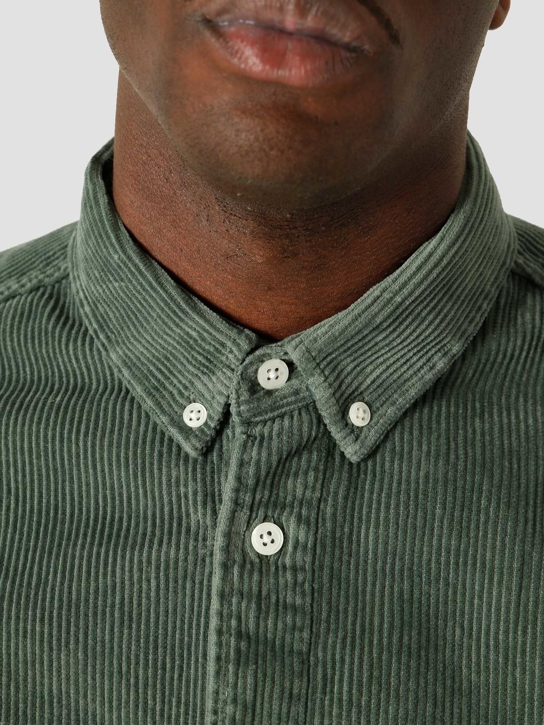 Quality Blanks Quality Blanks QB41 Cord Shirt Olive Green