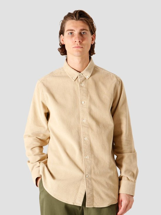 Quality Blanks QB41 Cord Shirt Sand