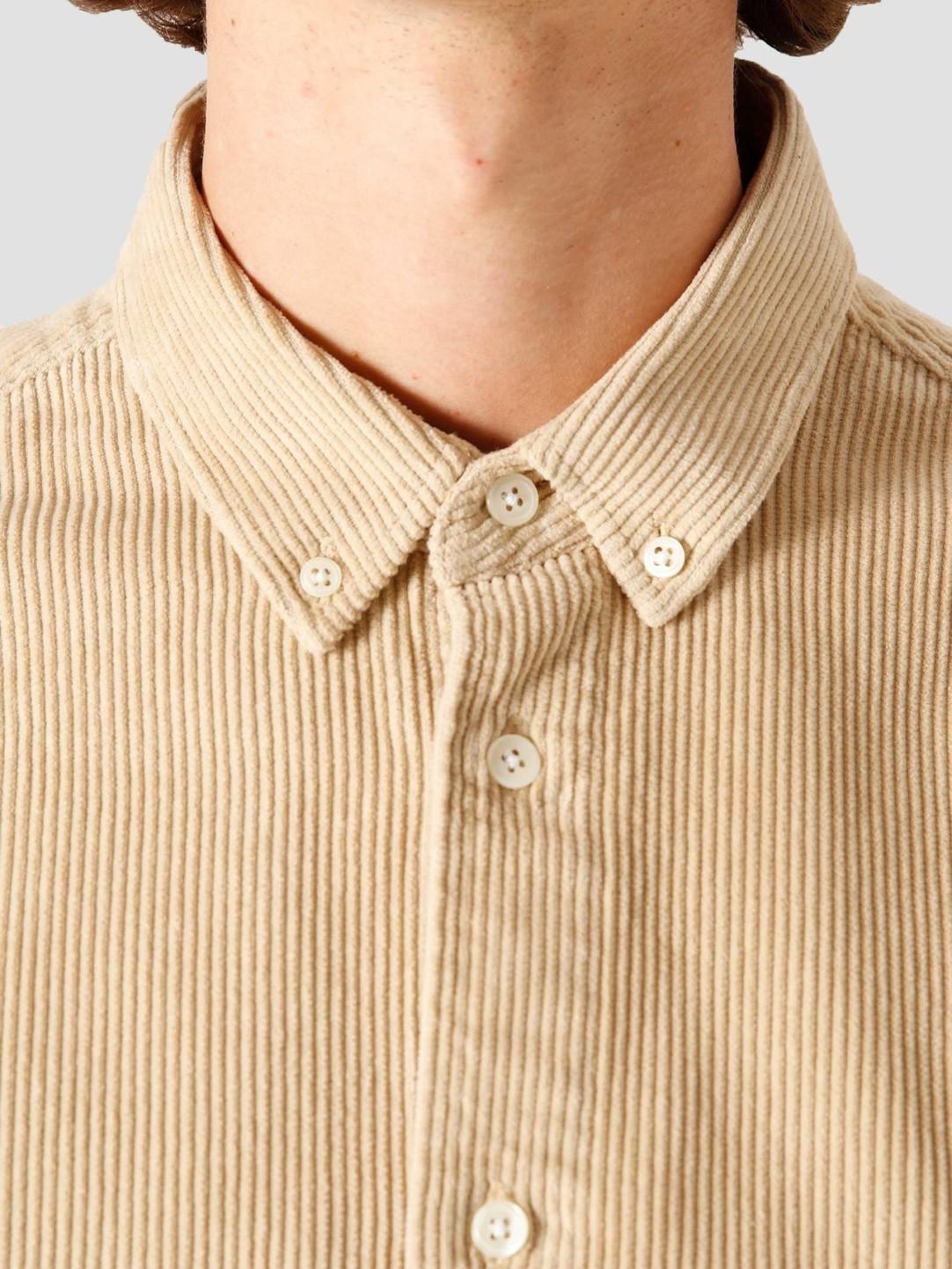 Quality Blanks Quality Blanks QB41 Cord Shirt Sand