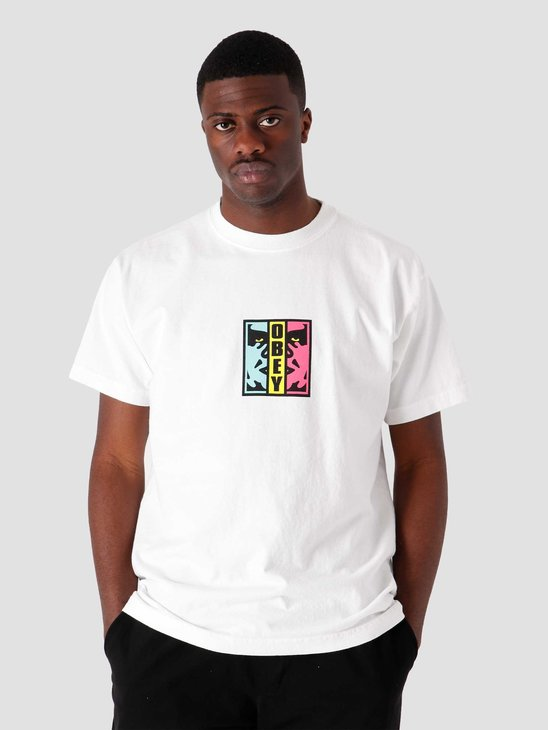 Obey Obey Divided T-Shirt White 166912590-WHT