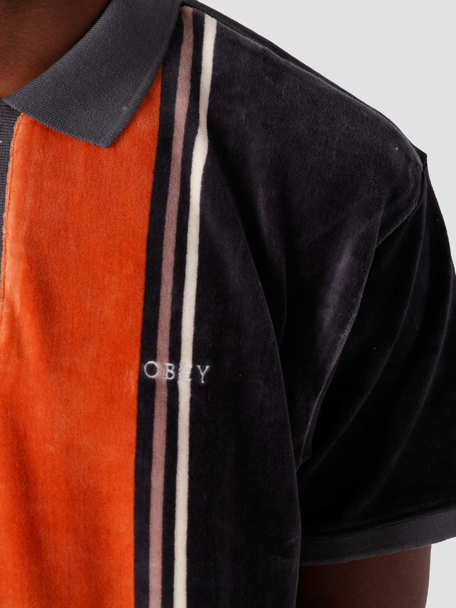 Obey Obey Jenkin Polo Full Indigo Multi 131090063-IDM