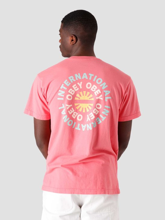 Obey Obey Supply & Demand T-Shirt Pink Lift 163002605-PFT