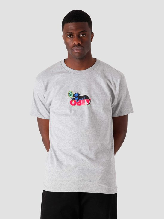 Obey Visions Of Excess T-Shirt Heather Grey 165262604-HEA