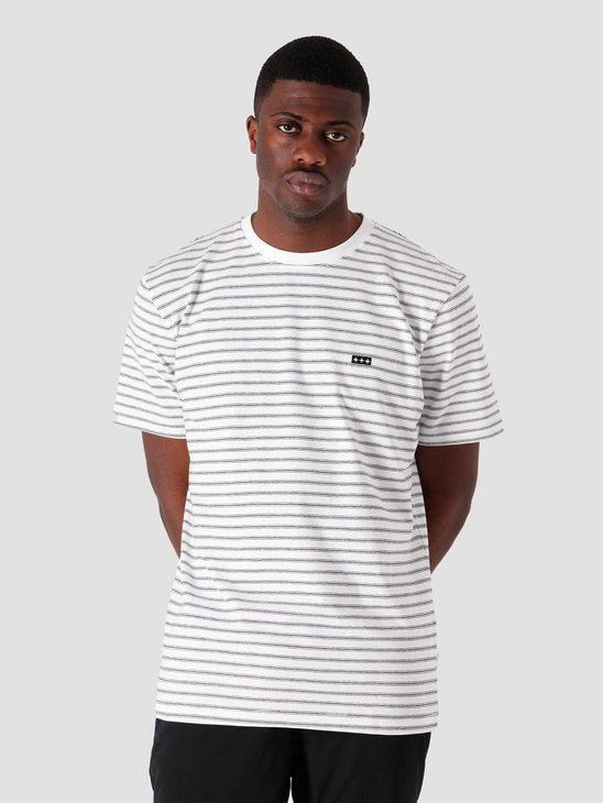 Quality Blanks QB601 Stripe T-shirt White Navy