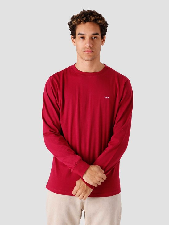 Quality Blanks QB05 Patch Logo Longsleeve Berry