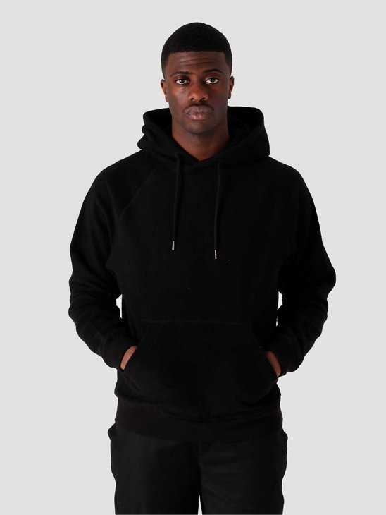 Quality Blanks QB931 Cotton Fleece Hoodie Black