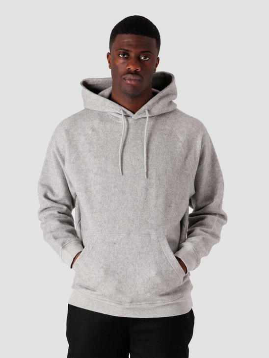 Quality Blanks QB931 Cotton Fleece Hoodie Grey Heather