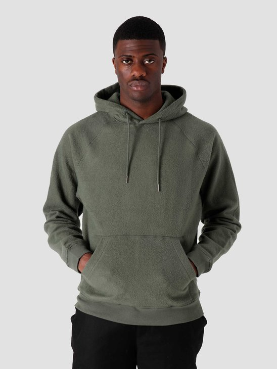 Quality Blanks QB931 Cotton Fleece Hoodie Olive