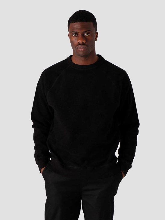 Quality Blanks QB941 Cotton Fleece Crewneck Black