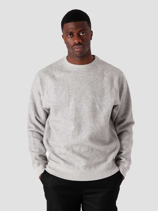 Quality Blanks QB941 Cotton Fleece Crewneck Grey Heather