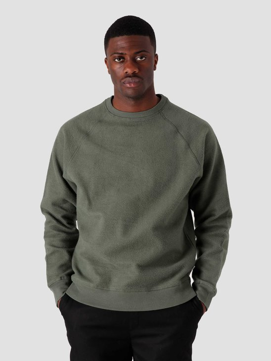 Quality Blanks QB941 Cotton Fleece Crewneck Olive