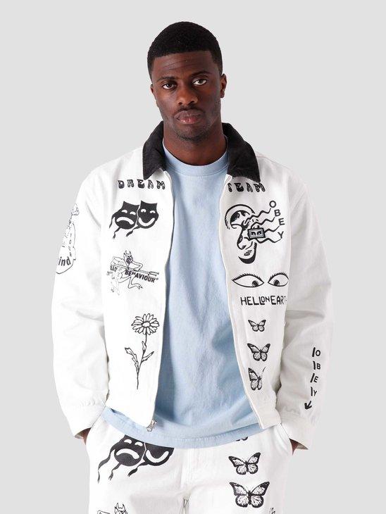 Obey Dream Team Denim Jacket White 121800468-WHT