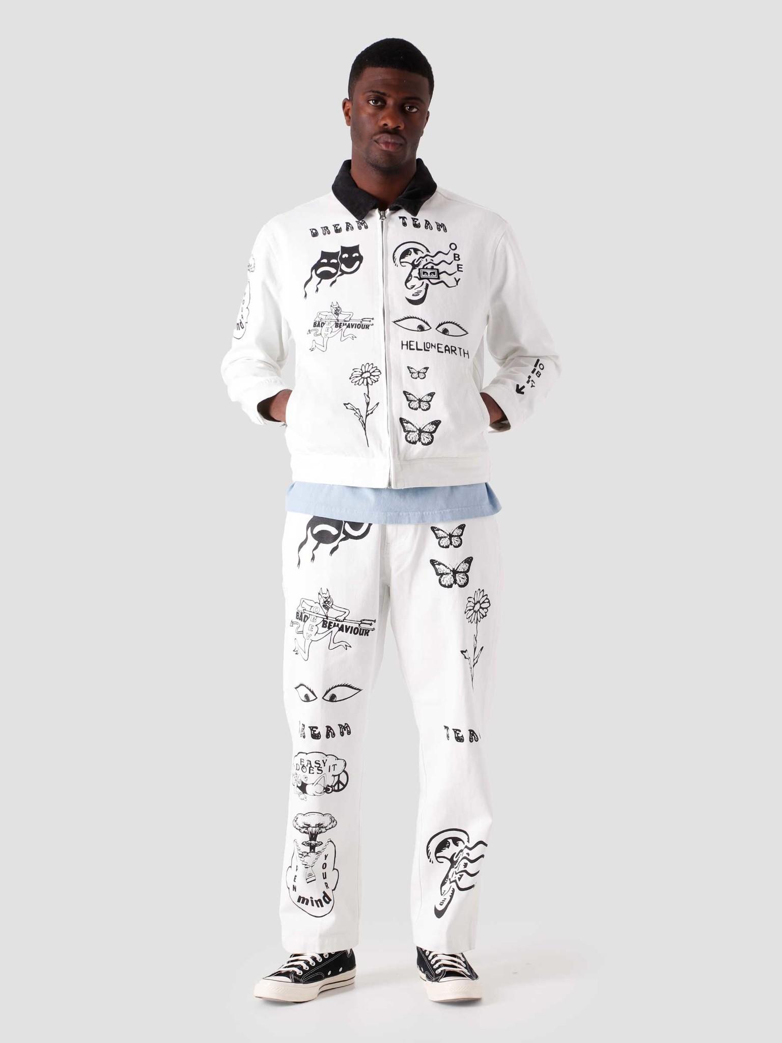 Obey Obey Dream Team Denim Jacket White 121800468-WHT