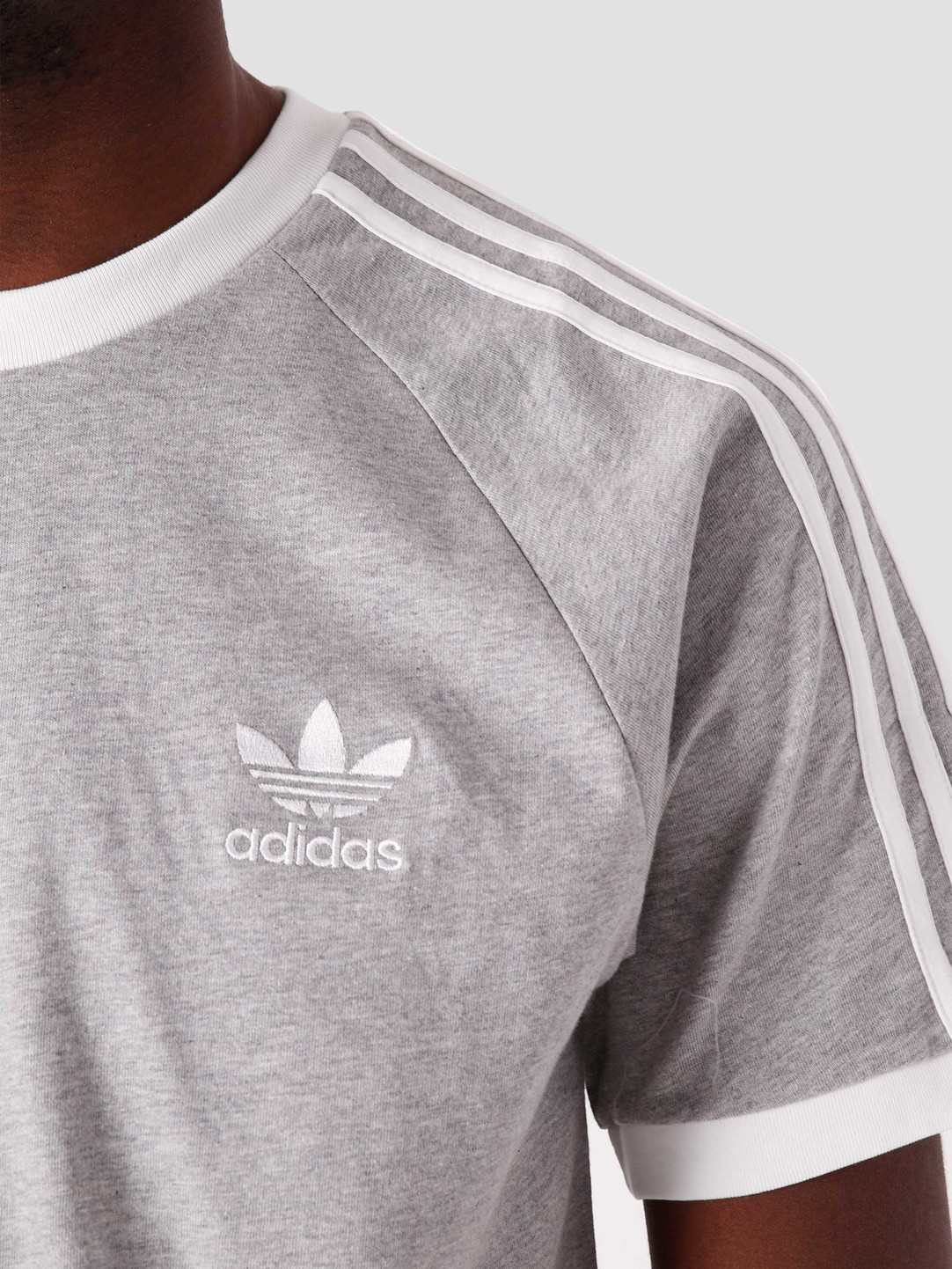 adidas adidas 3 Stripes T-Shirt Grey GN3493