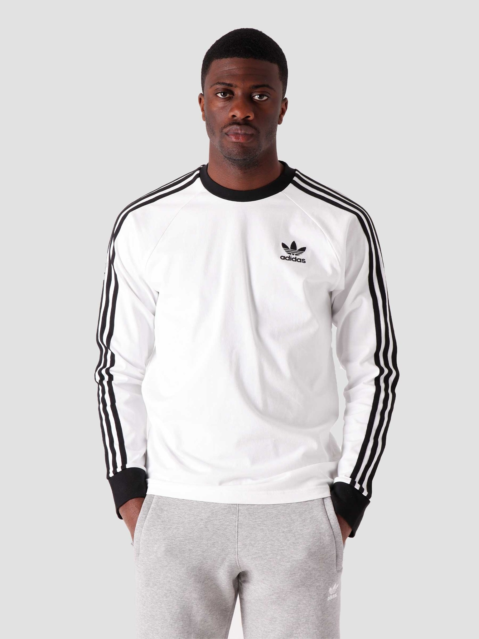 adidas adidas 3-Stripes Longsleeve White ED5959