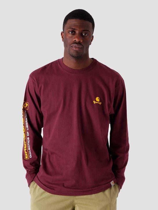 Carhartt WIP LS Airwaves T Shirt Shiraz I029050-08L00