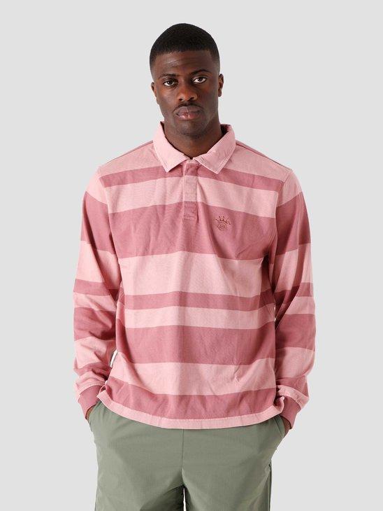 Stussy 2-Tone Stripe Longsleeve Rugby Pink 1140243-0604