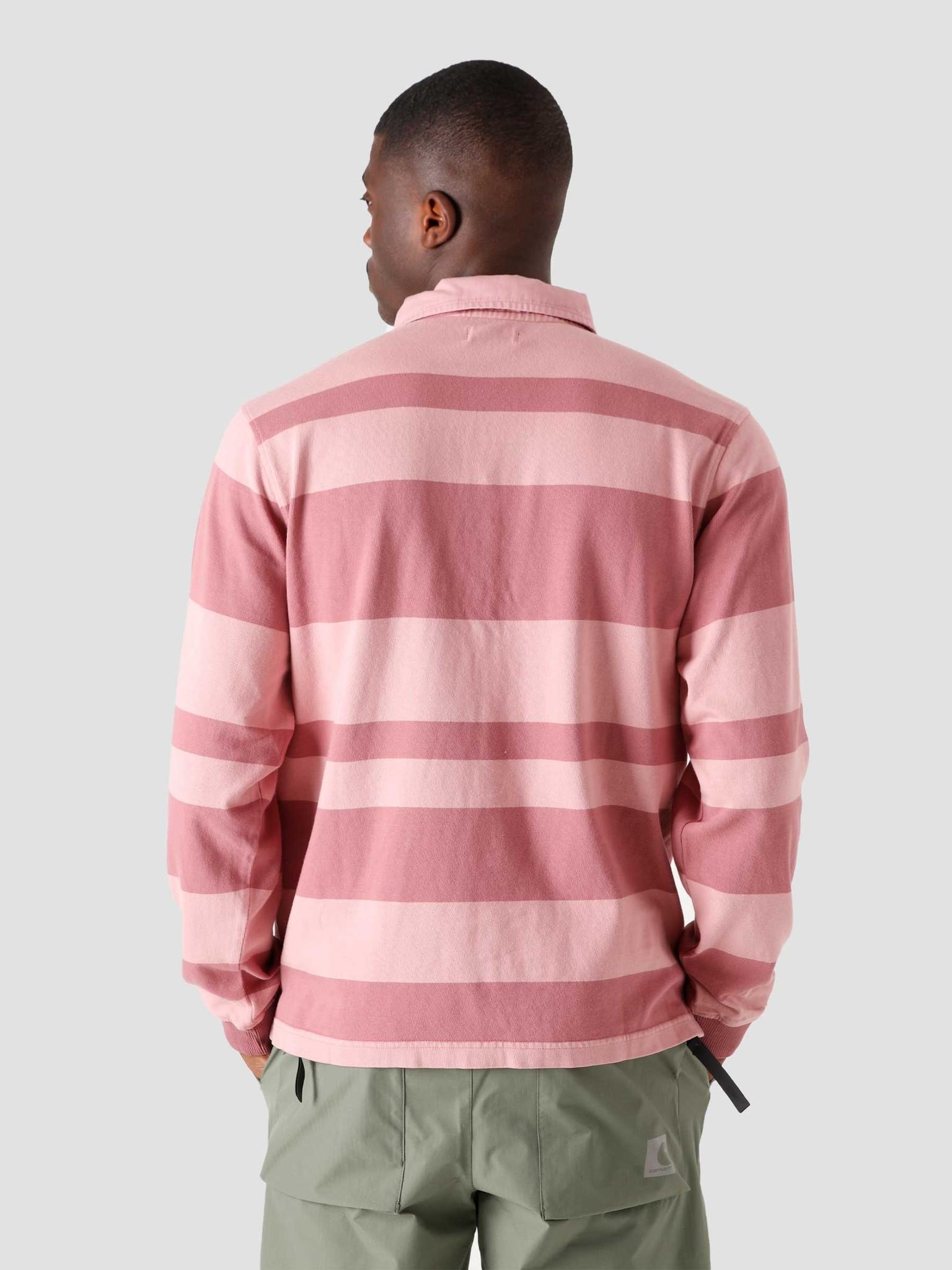 Stussy Stussy 2-Tone Stripe Longsleeve Rugby Pink 1140243-0604
