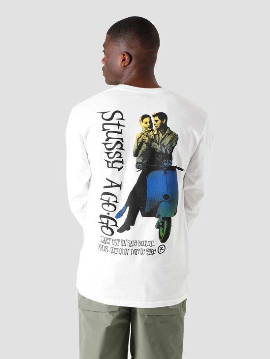 Stussy A Go-Go Longsleeve T-Shirt White 1994678-1201