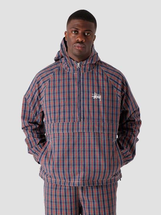 Stussy Brushed Cotton Anorak Plaid 115559-1533