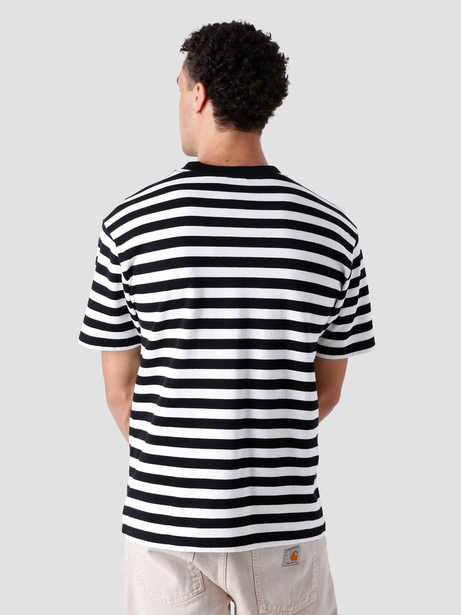 Olaf Hussein Olaf Hussein Stripe Sans T-Shirt White Black