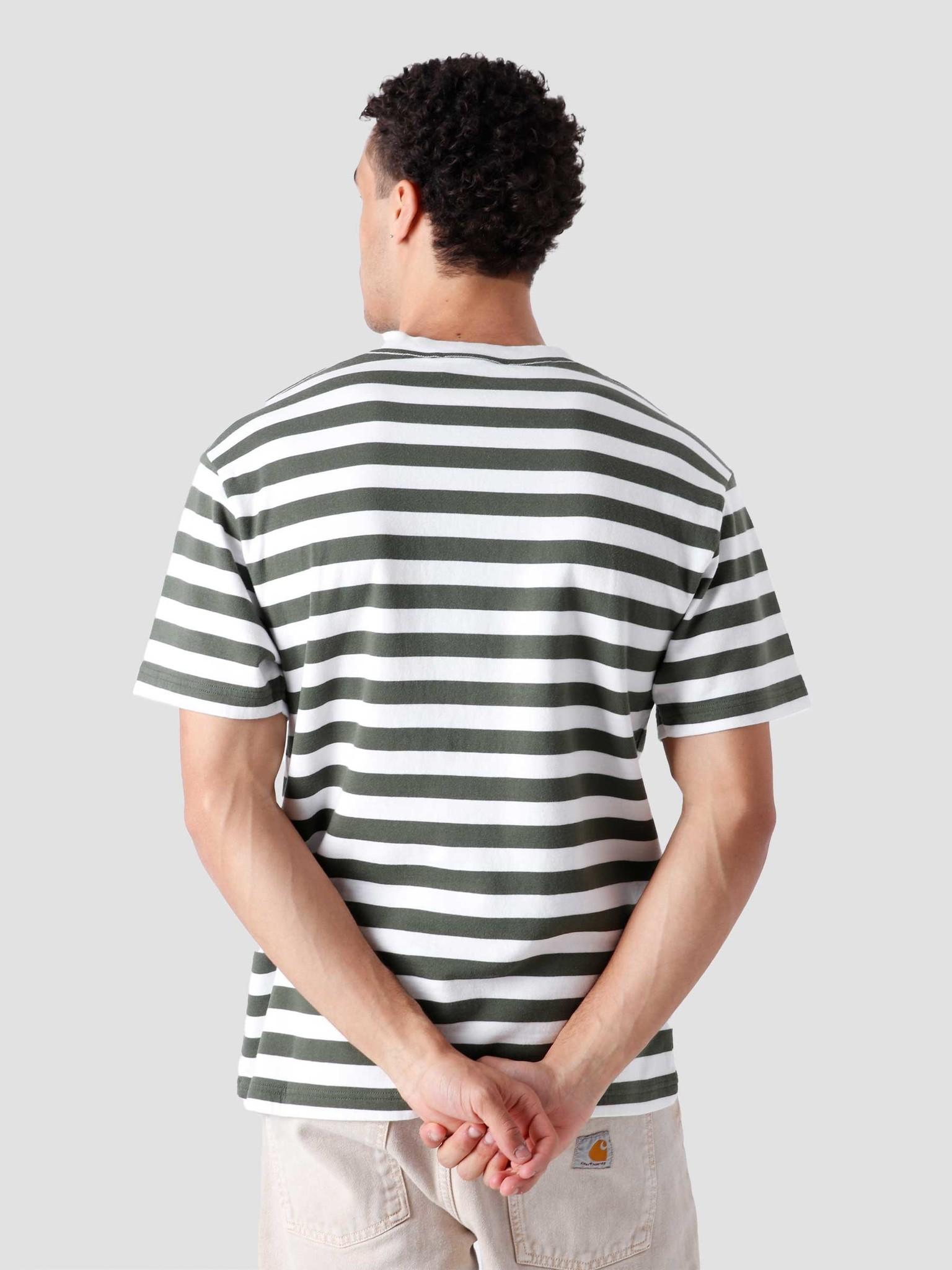 Olaf Hussein Olaf Hussein Stripe Sans T-Shirt White Sage