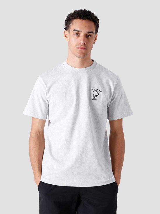 Carhartt WIP SS Misfortune T Shirt Ash Heather I029065-48200