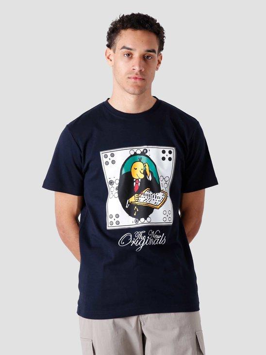 The New Originals TNO Mens Erger Je niet T-Shirt Navy 1185