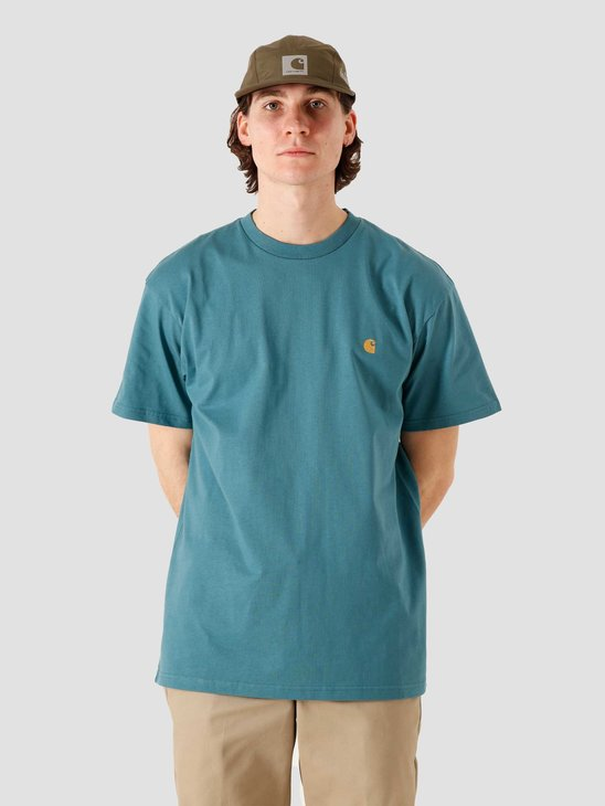Carhartt WIP SS Chase T Shirt Hydro Gold I026391-0AC90