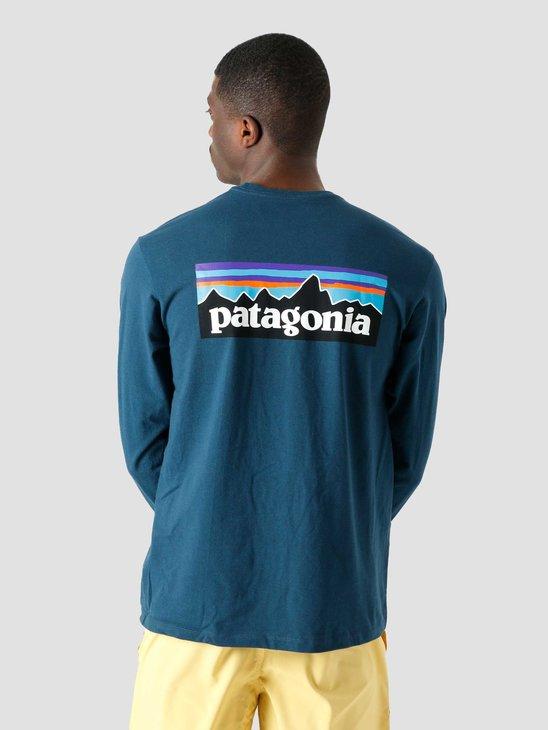 Patagonia M's P-6 Logo Responsibili-T-Shirt Crater Blue 38518