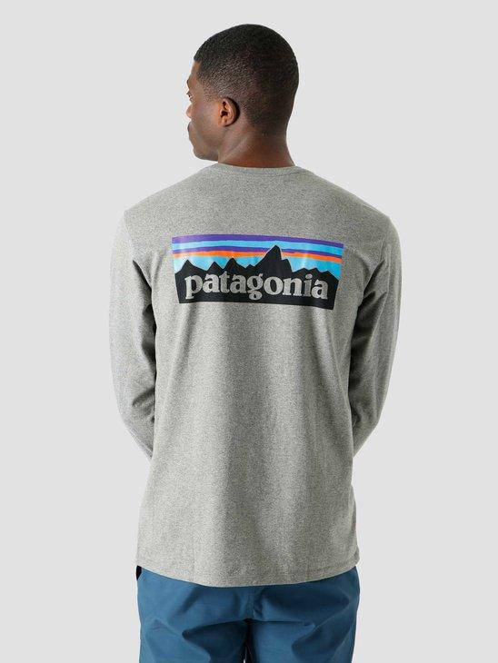 Patagonia M's P-6 Logo Responsibili-T-Shirt Gravel Heather 38518
