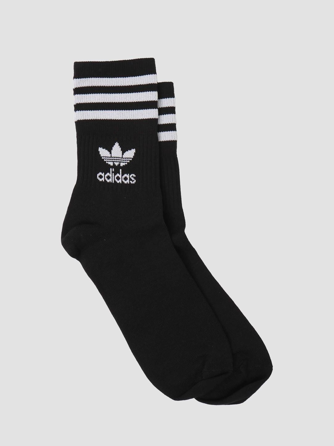 adidas adidas Mid Cut Crew Sock Black White GD3576