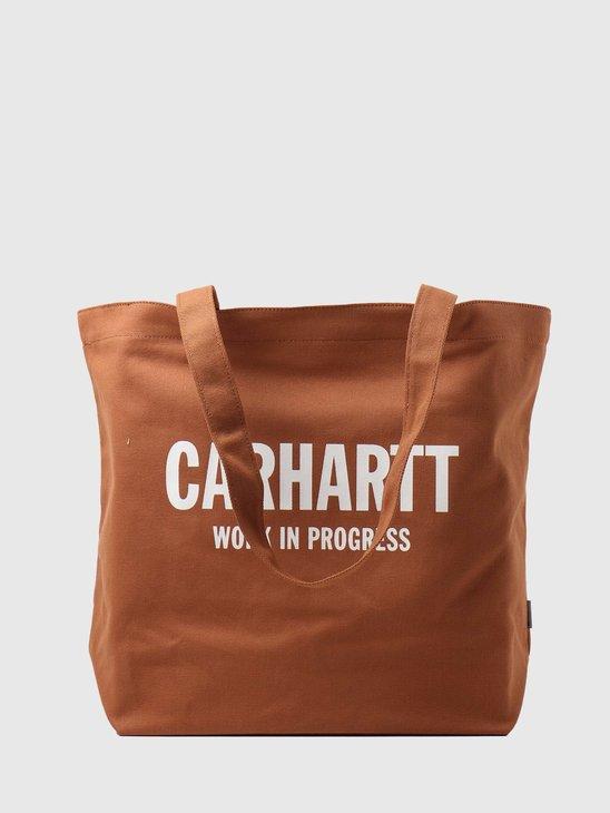 Carhartt WIP Wavy State Tote Rum Wax I028948