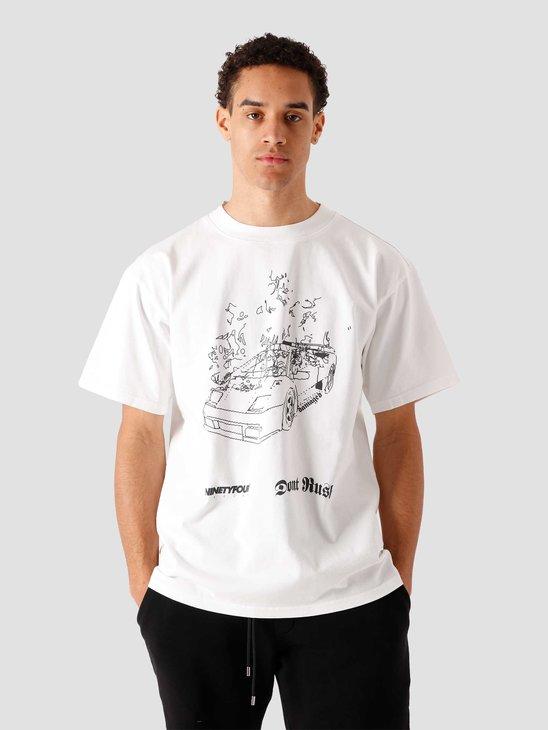 Ninetyfour NTF Burn T-Shirt White