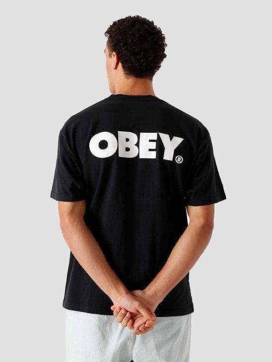 Obey Obey Bold T-Shirt Off Black 166912349-OBK