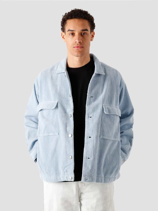 Obey Theo Cord Shirt Jacket Good Grey 121160023-GGY