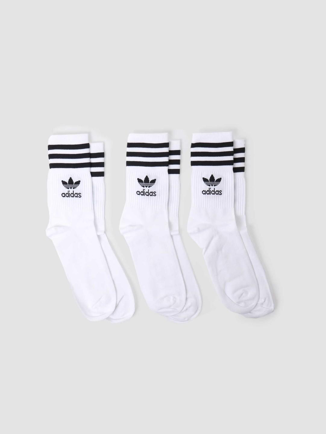 adidas adidas U Mid Cut Crew Sock White Black GD3575