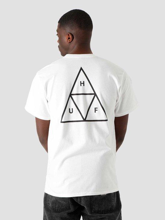 HUF Essentials Triple Triangle T-Shirt White TS00509