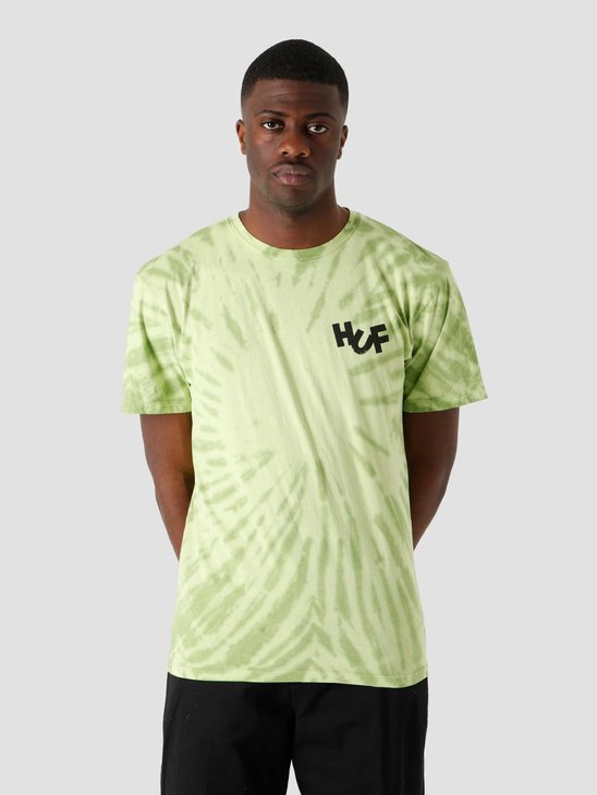 HUF Haze Brush Tie Dye T-Shirt Lime TS01383