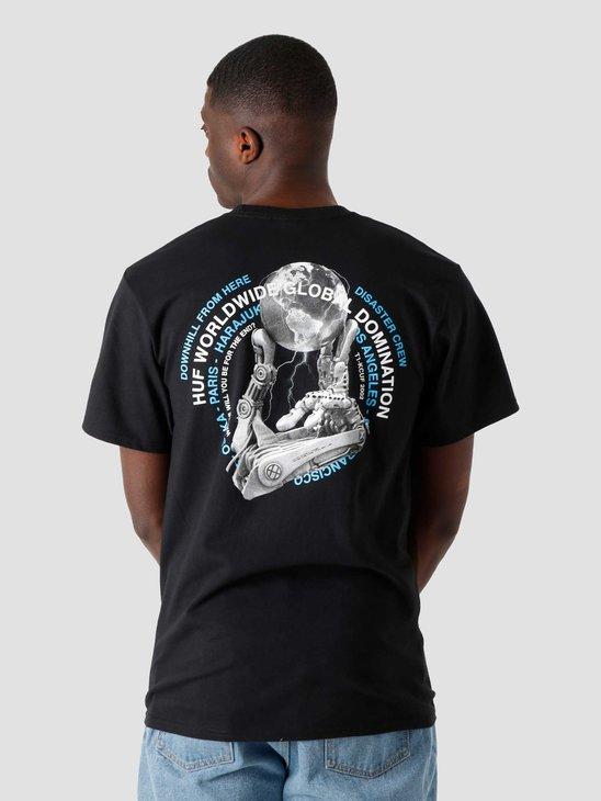 HUF Robotics T-Shirt Black TS01334