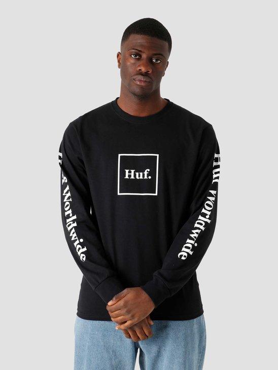 HUF Essentials Domestic Longsleeve T-Shirt Black TS00146