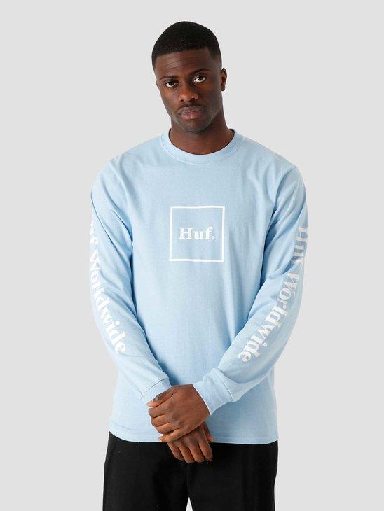 HUF Essentials Domestic Longsleeve T-Shirt Light Blue TS00146