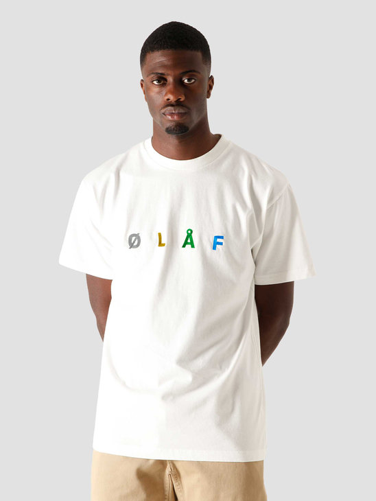 Olaf Hussein OH Chainstitch T-Shirt White SP21