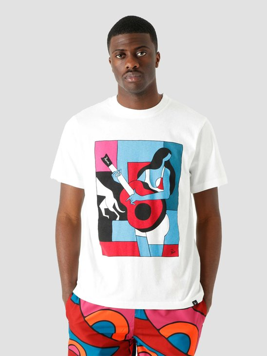 by Parra Cant Hardly Stand It T-Shirt White 45280