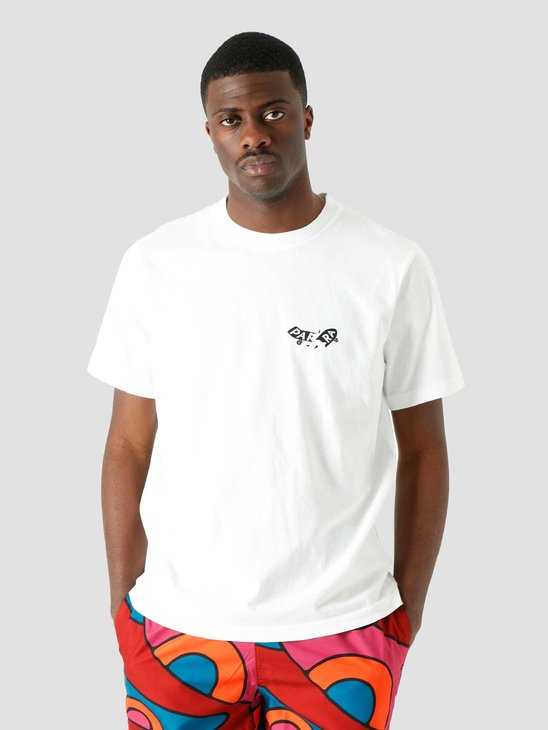 by Parra Focused T-Shirt White 45310