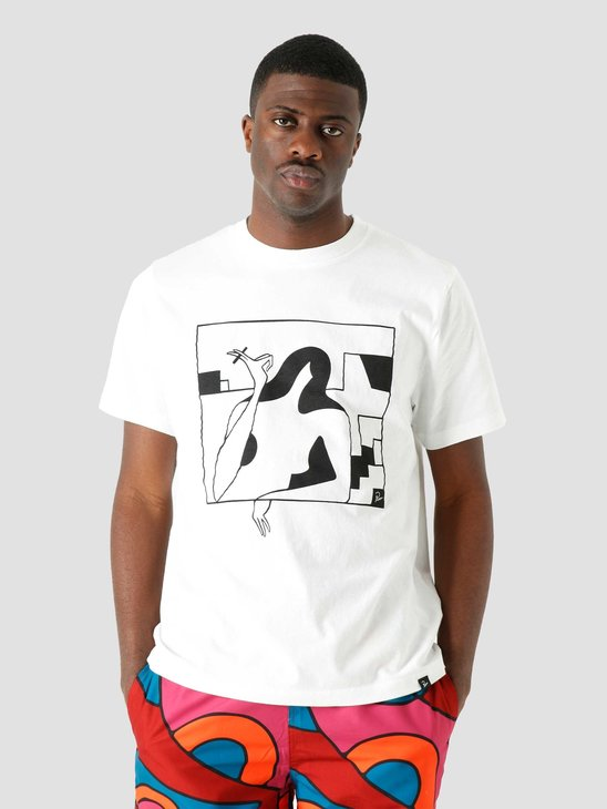 by Parra Lockdown T-Shirt White 45300