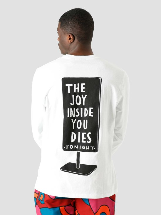 by Parra Joy Inside Longsleeve T-Shirt White 45330